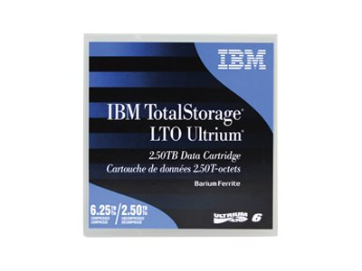 IBM TotalStorage - LTO Ultrium 6 - 2.5 TB / 6.25 TB - etikettiert