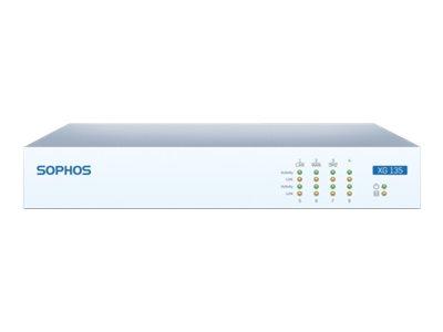 Sophos XG 135 - Sicherheitsgerät - mit 2 Jahre EnterpriseProtect - 8 Anschlüsse - GigE - Desktop