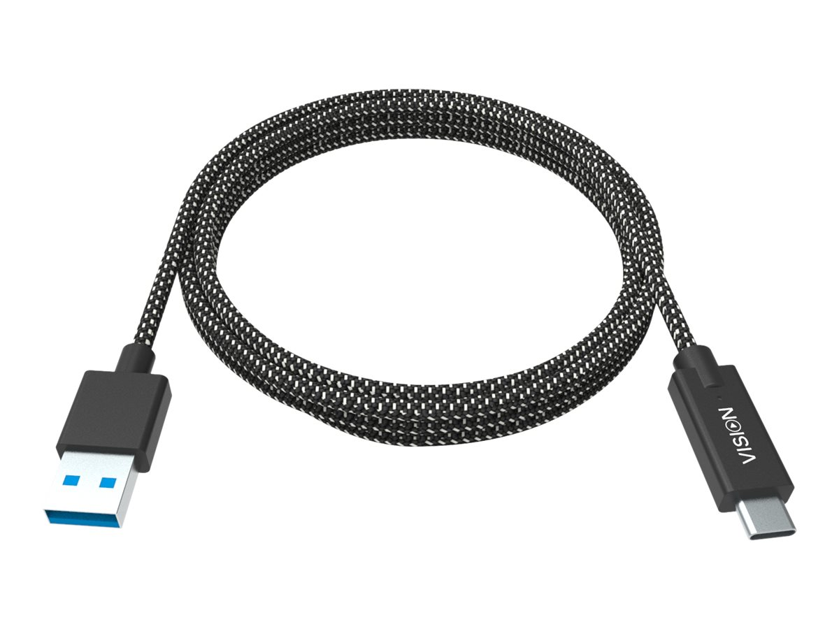 Vision Professional Premium Braided - USB-Kabel - USB-C (M) bis USB Typ A (M) - USB 3.0 - 3 A - 2 m