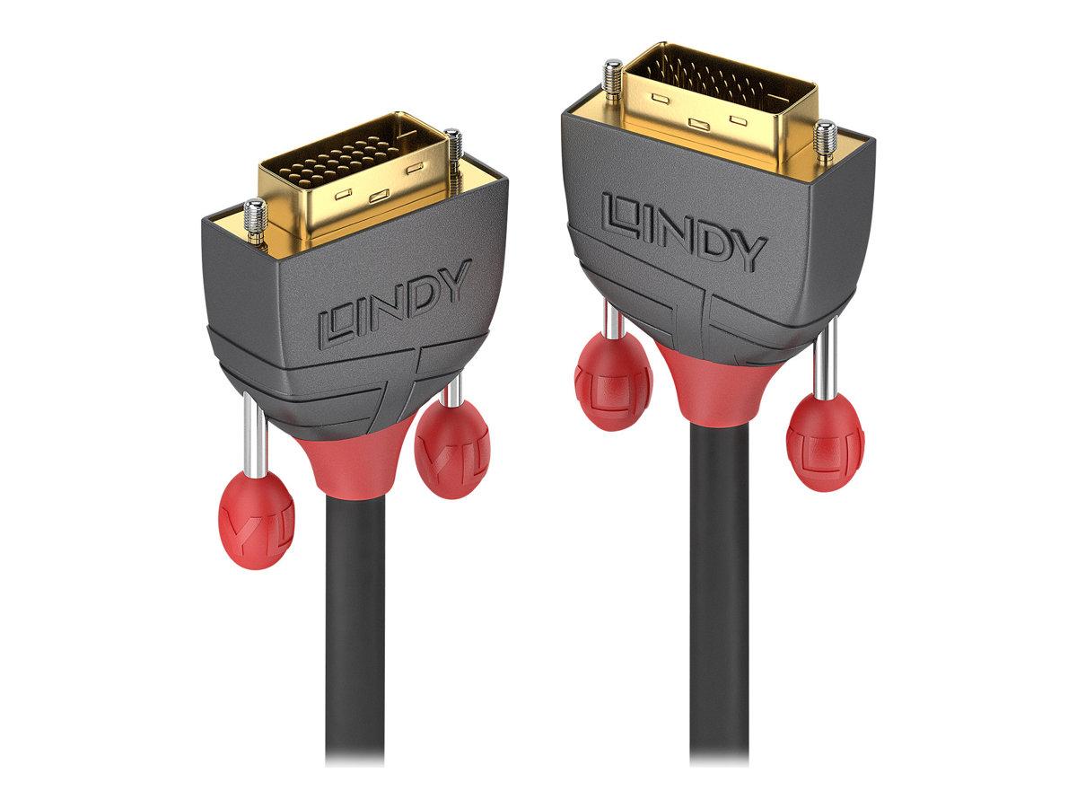 Lindy Antra Line - DVI-Kabel - Dual Link - DVI-D (M) bis DVI-D (M) - 50 cm - Schwarz