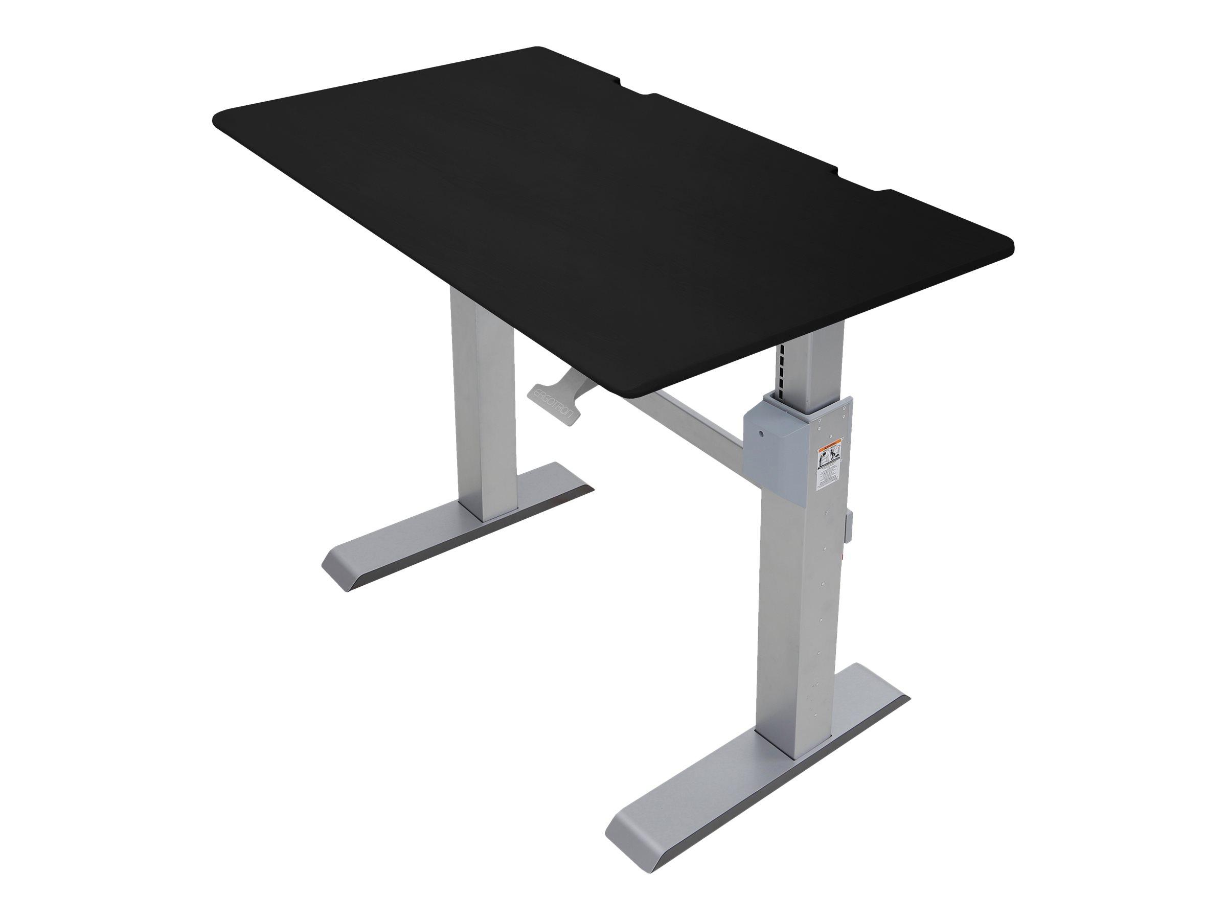 Ergotron WorkFit-DL - Sitz-/ Stehtisch - mobil - Büro - rechteckig - Schwarz