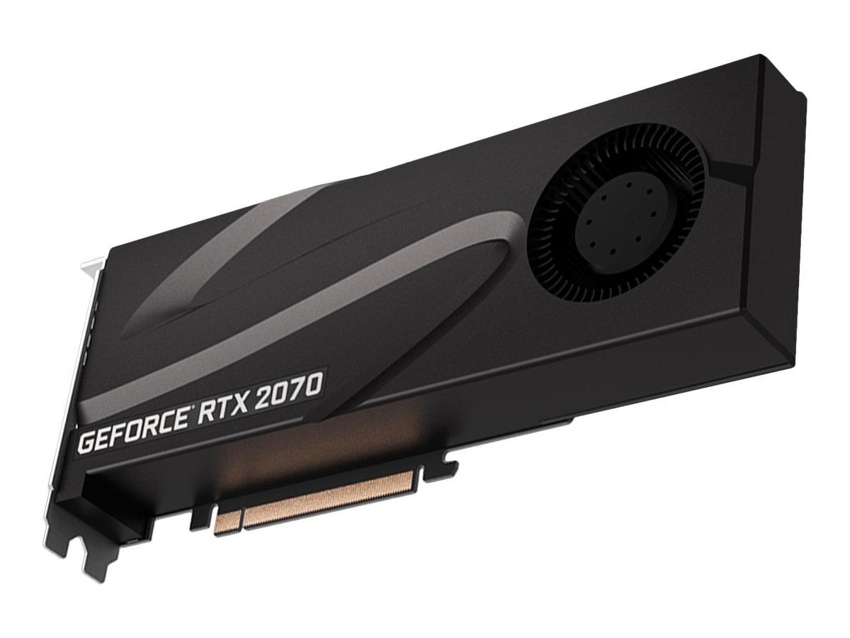 PNY GeForce RTX 2070 Blower - Grafikkarten - GF RTX 2070 - 8 GB GDDR6 - PCIe 3.0 x16 - DVI, HDMI, 2 x DisplayPort