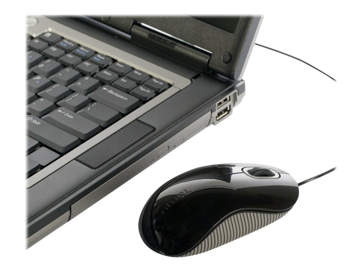 Targus Cord-Storing - Maus - optisch - kabelgebunden - USB - Grau, Schwarz