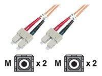 DIGITUS - Patch-Kabel - SC multi-mode (M) bis SC multi-mode (M) - 1 m - Glasfaser - 50/125 Mikrometer