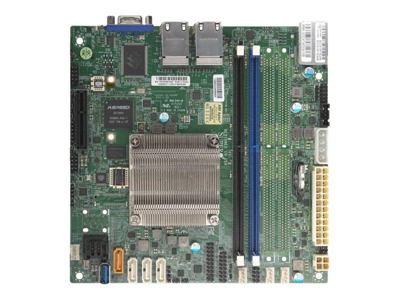 SUPERMICRO A2SDi-2C-HLN4F - Motherboard - Mini-ITX - Intel Atom C3338 - USB 3.0 - 4 x Gigabit LAN