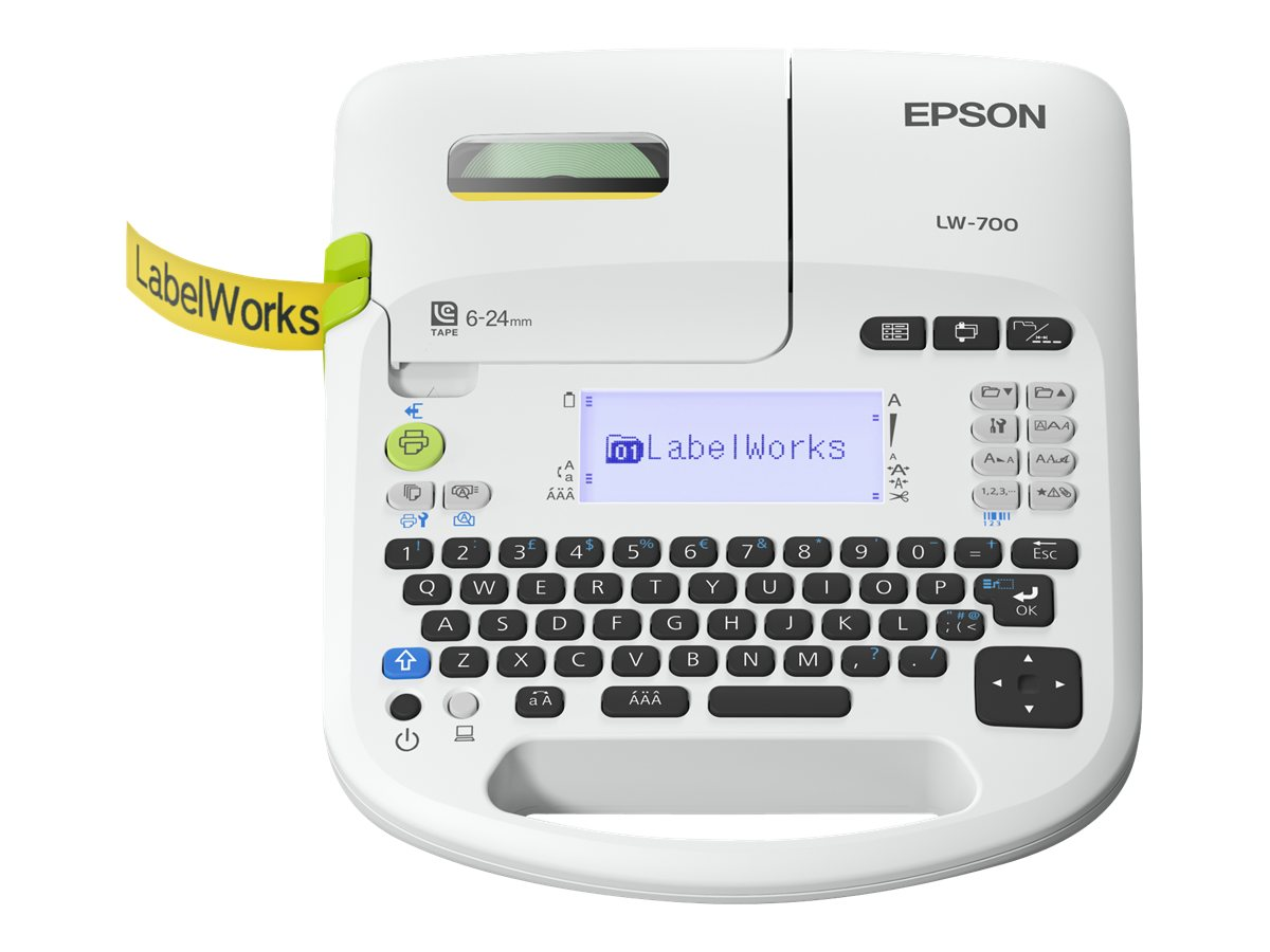 Epson LabelWorks LW-700 - Beschriftungsgerät - monochrom - Thermal Transfer - Rolle (2,4 cm) - 180 dpi