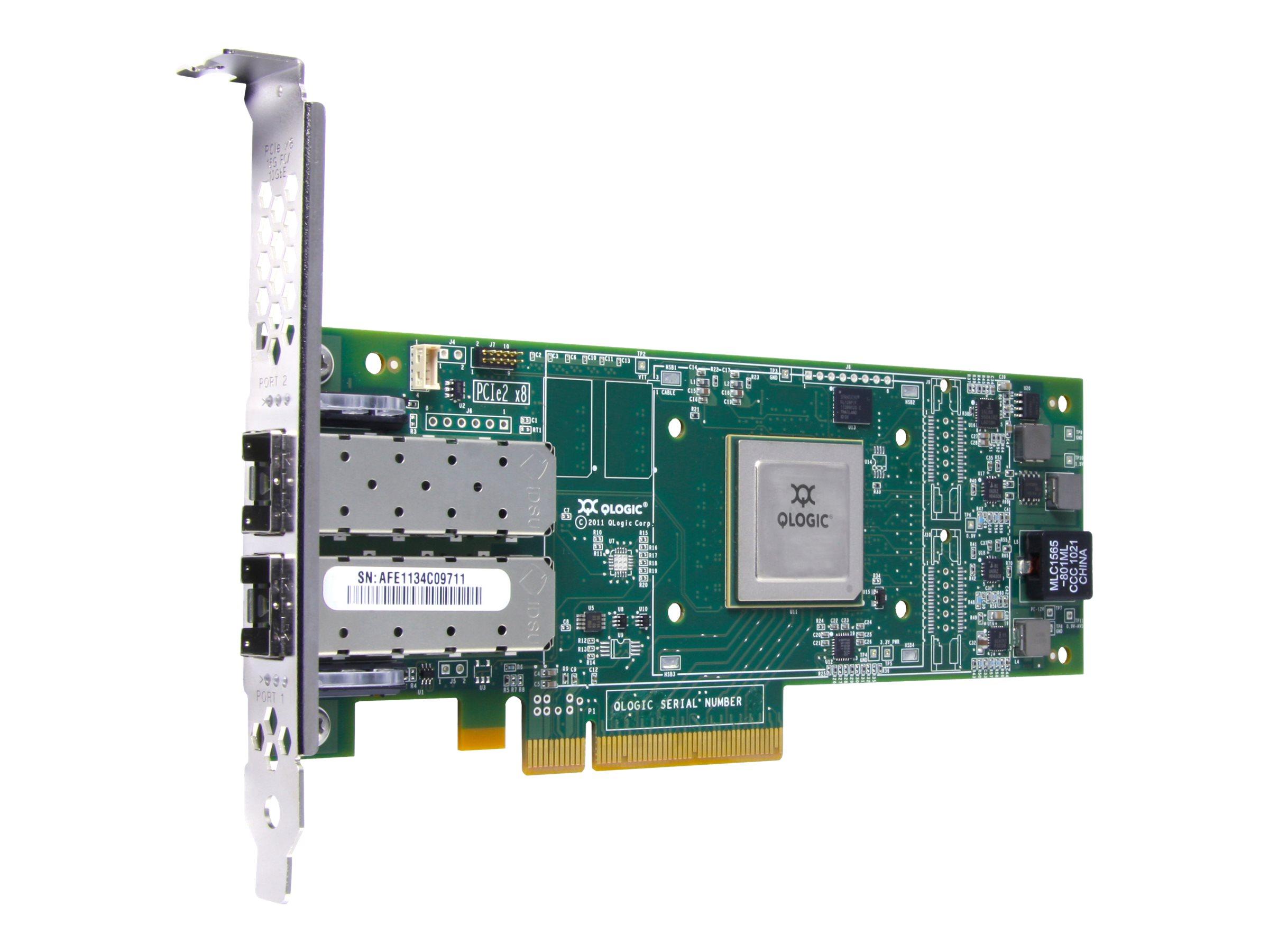HPE SN1000Q - Hostbus-Adapter - PCIe 2.0 x8 Low-Profile - 16Gb Fibre Channel x 2 - für Integrity rx2800 i4 Office Friendly Base