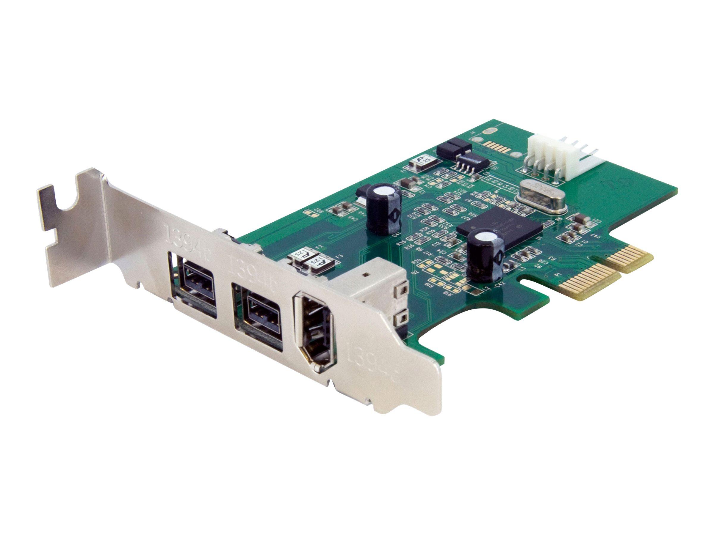 StarTech.com 3 Port 800+400 FireWire PCI Express Schnittstellen Low Profile Combo Karte - PCIe 3 Port FireWire Card - PCI-e 1 x