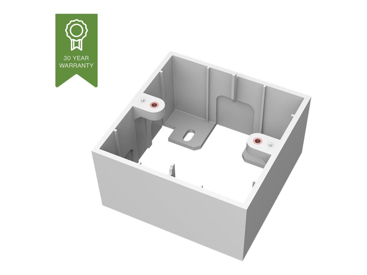VISION TechConnect 3 1-Gang UK Backbox - Gehäuse - weiss - Abdeckung mit einer Aussparung