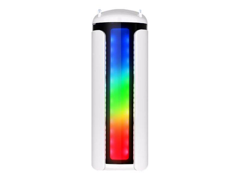 Thermaltake Versa C22 RGB - Snow Edition - Tower - ATX - ohne Netzteil (PS/2) - schwarz und weiss