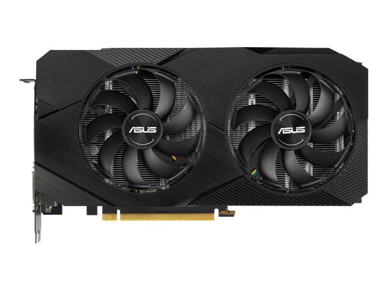 ASUS DUAL-GTX1660TI-6G-EVO - Grafikkarten - GF GTX 1660 Ti - 6 GB GDDR6 - PCIe 3.0 x16 - DVI, 2 x HDMI, DisplayPort