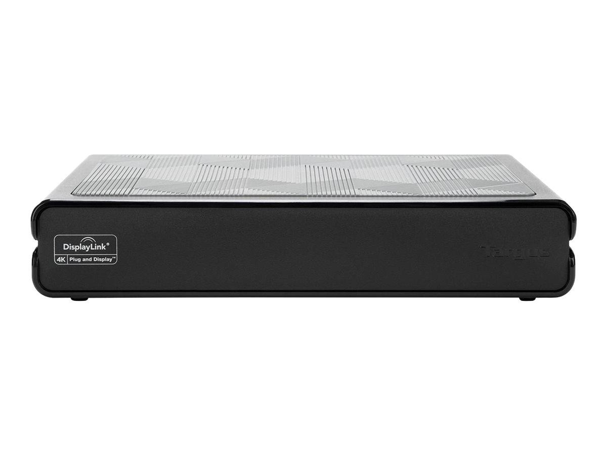 Targus Universal USB 3.0 DV4K Docking Station with Power - Docking Station - USB - 2 x HDMI, 2 x DP - GigE - 120 Watt