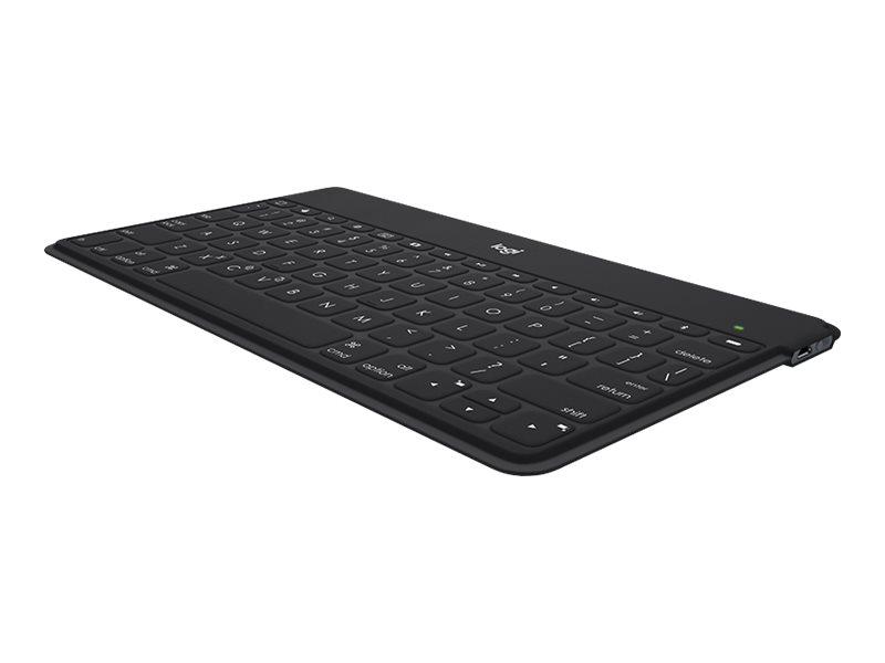 Logicool Keys-To-Go - Tastatur - Bluetooth - AZERTY - Flämisch - Schwarz