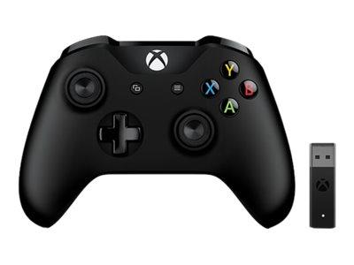 Microsoft Xbox Controller + Wireless Adapter for Windows 10 - Game Pad - kabellos - Bluetooth - für PC, Microsoft Xbox One, Micr
