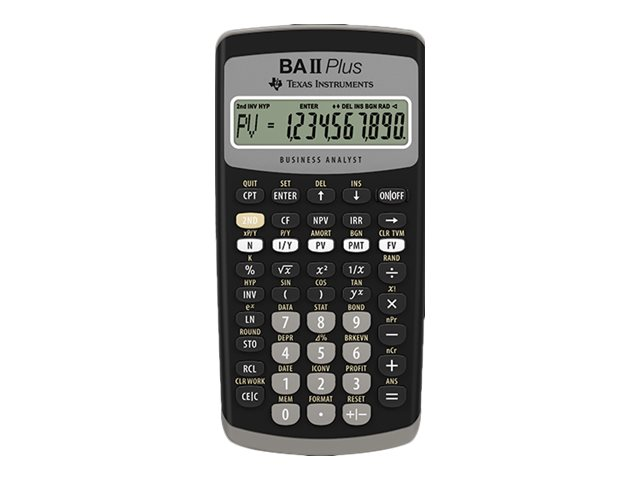 Texas Instruments BA II Plus - Finanz-Taschenrechner - 10 Stellen - Batterie