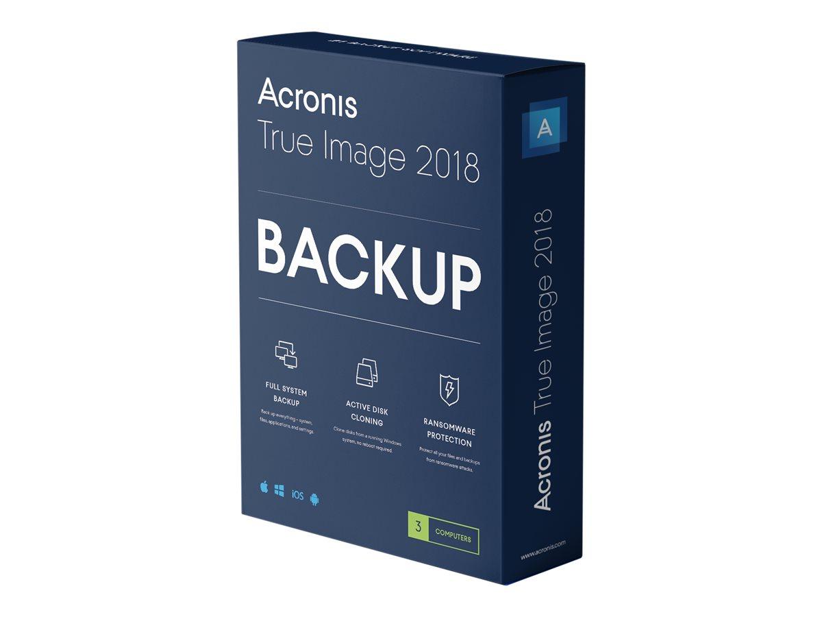 Acronis True Image Advanced - Abonnement-Lizenz (1 Jahr) - 3 Computer, 250 GB Cloud-Speicherplatz - Win, Mac, Android, iOS