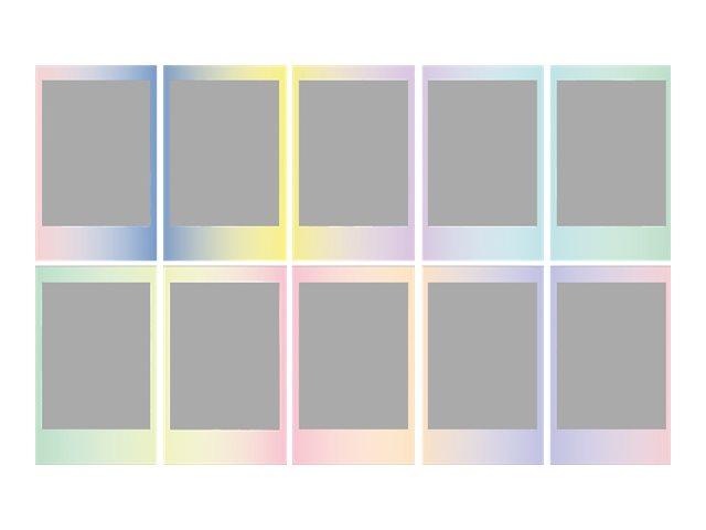 Fujifilm Instax Mini MACARON - Instant-Farbfilm - ISO 800 - 10 Belichtungen