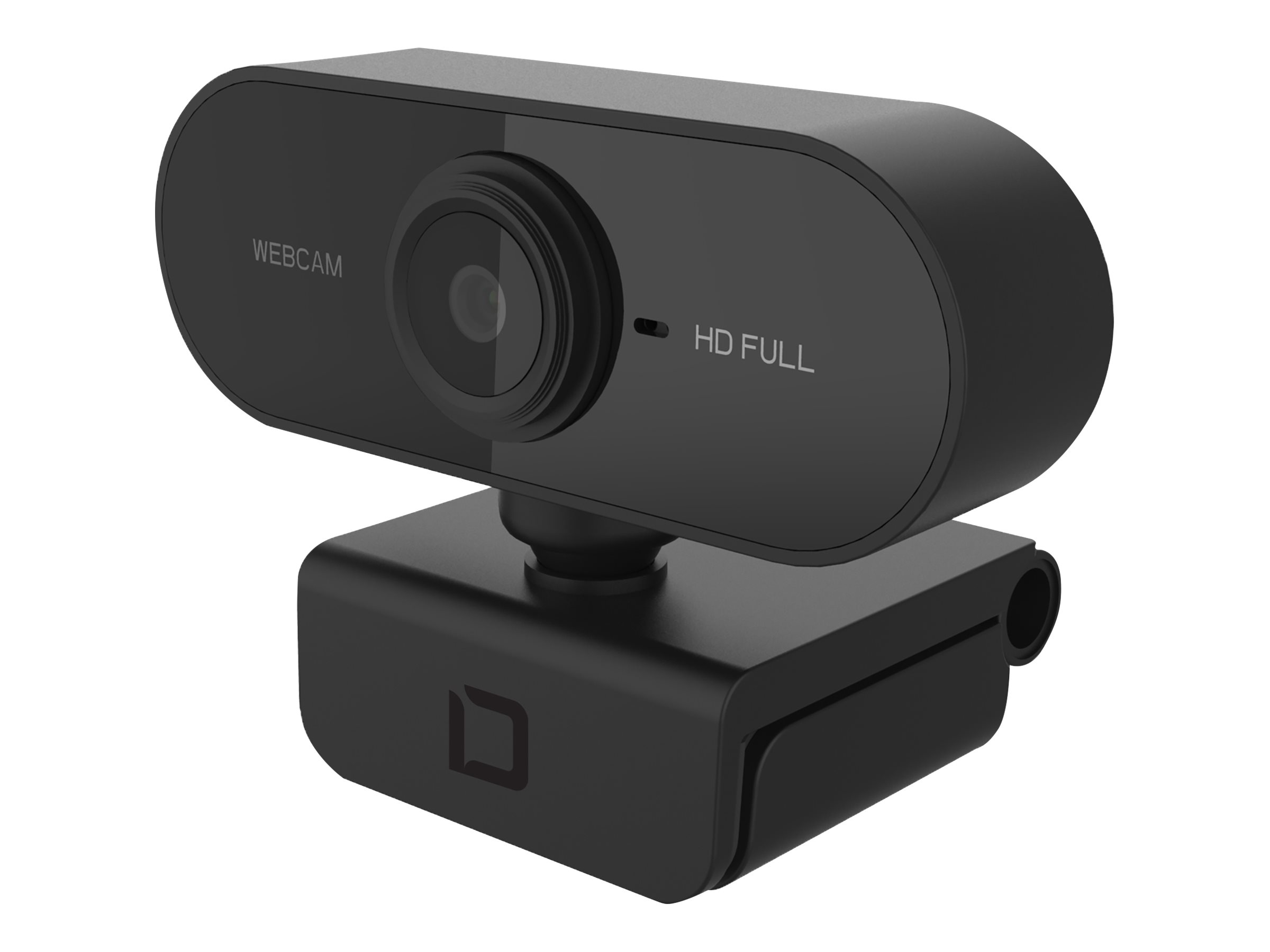 DICOTA Webcam PRO Full HD - Web-Kamera - Farbe - 1920 x 1080 - 1080p - Audio