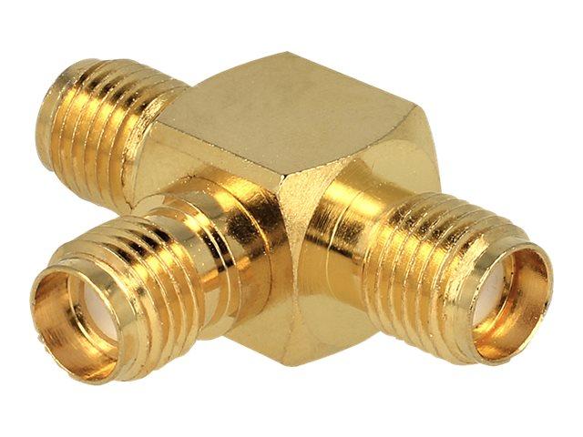 DeLOCK SMA Buchse > SMA Buchse > SMA Buchse T-Stück - Antennen-Splitter - SMA (S) bis SMA (S)