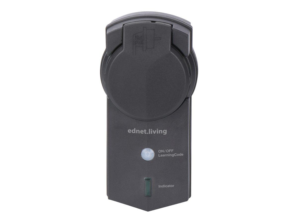 Ednet.living - Smart-Stecker - kabellos - 433 MHz - Schwarz