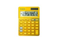 Canon LS-123K - Desktop-Taschenrechner - 12 Stellen - Solarpanel, Batterie - Gelb