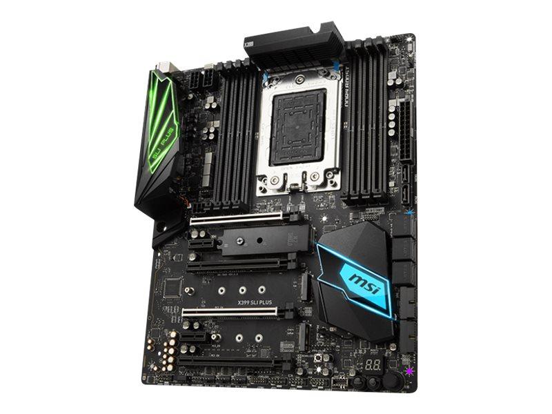MSI X399 SLI PLUS - Motherboard - ATX - Socket TR4 - AMD X399 - USB 3.1 Gen 1, USB-C Gen2, USB 3.1 Gen 2