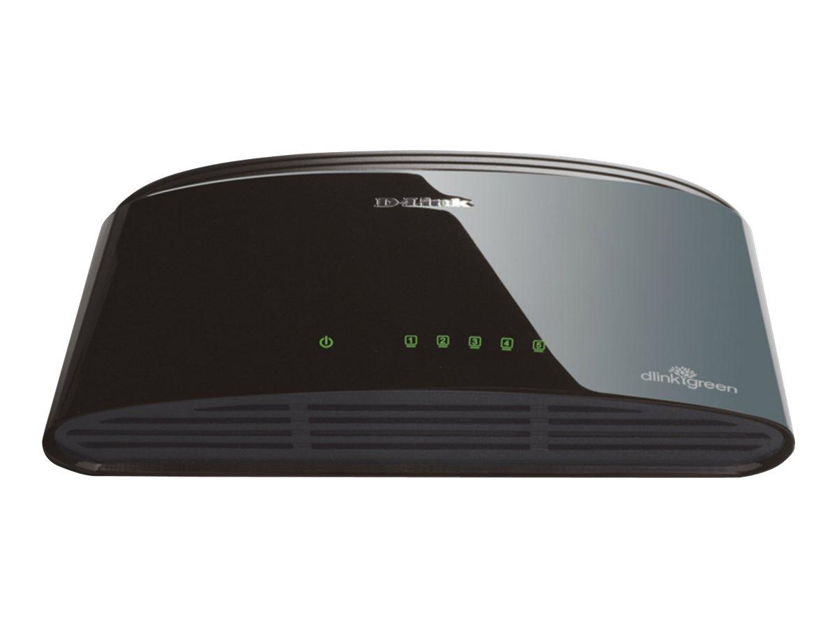 D-Link DES 1005D - Switch - unmanaged - 5 x 10/100 - Desktop