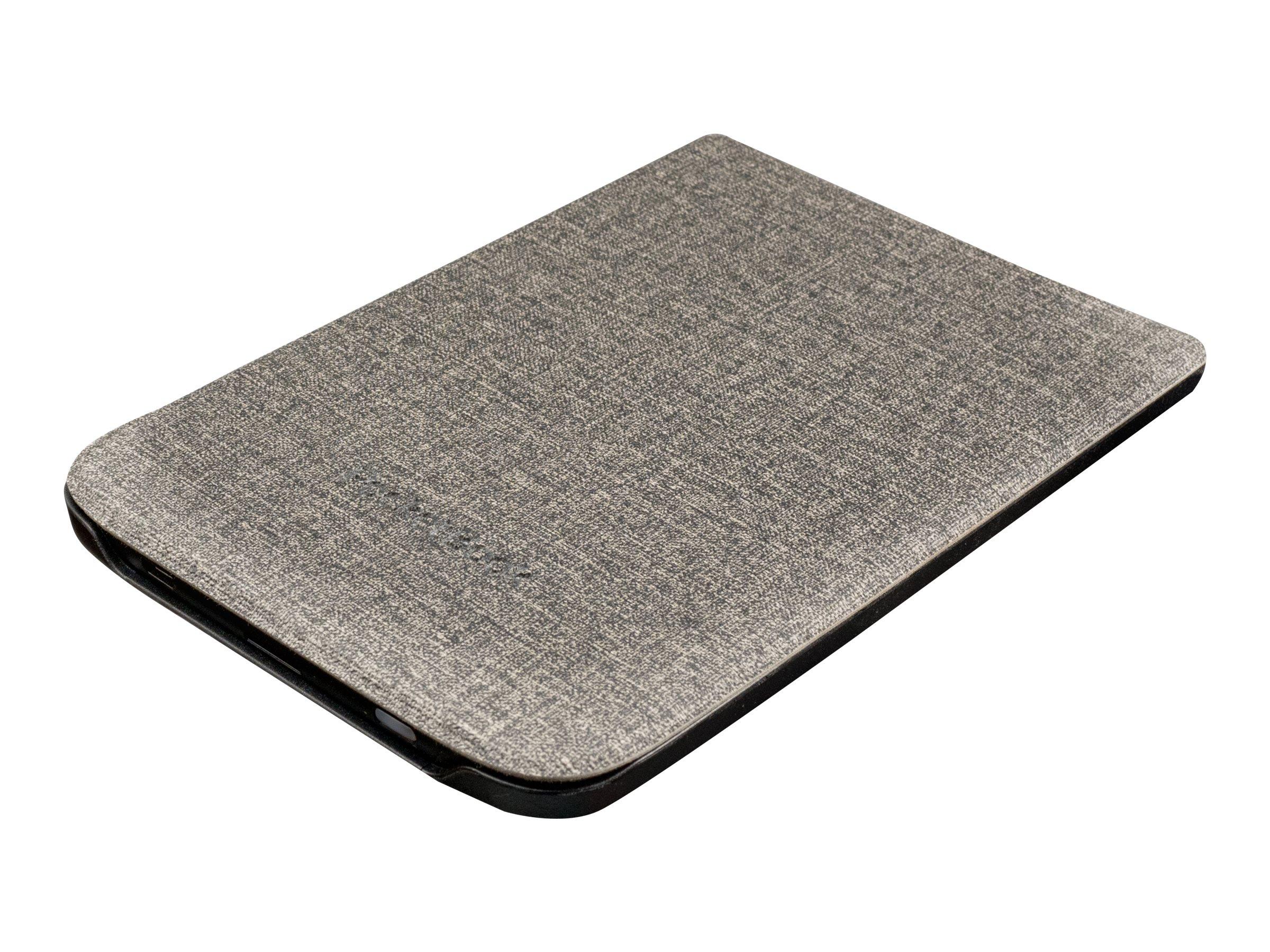 PocketBook Shell series - Flip-Hülle für eBook-Reader - Kunststoff, Polyurethan, Microfiber - Grau - 6