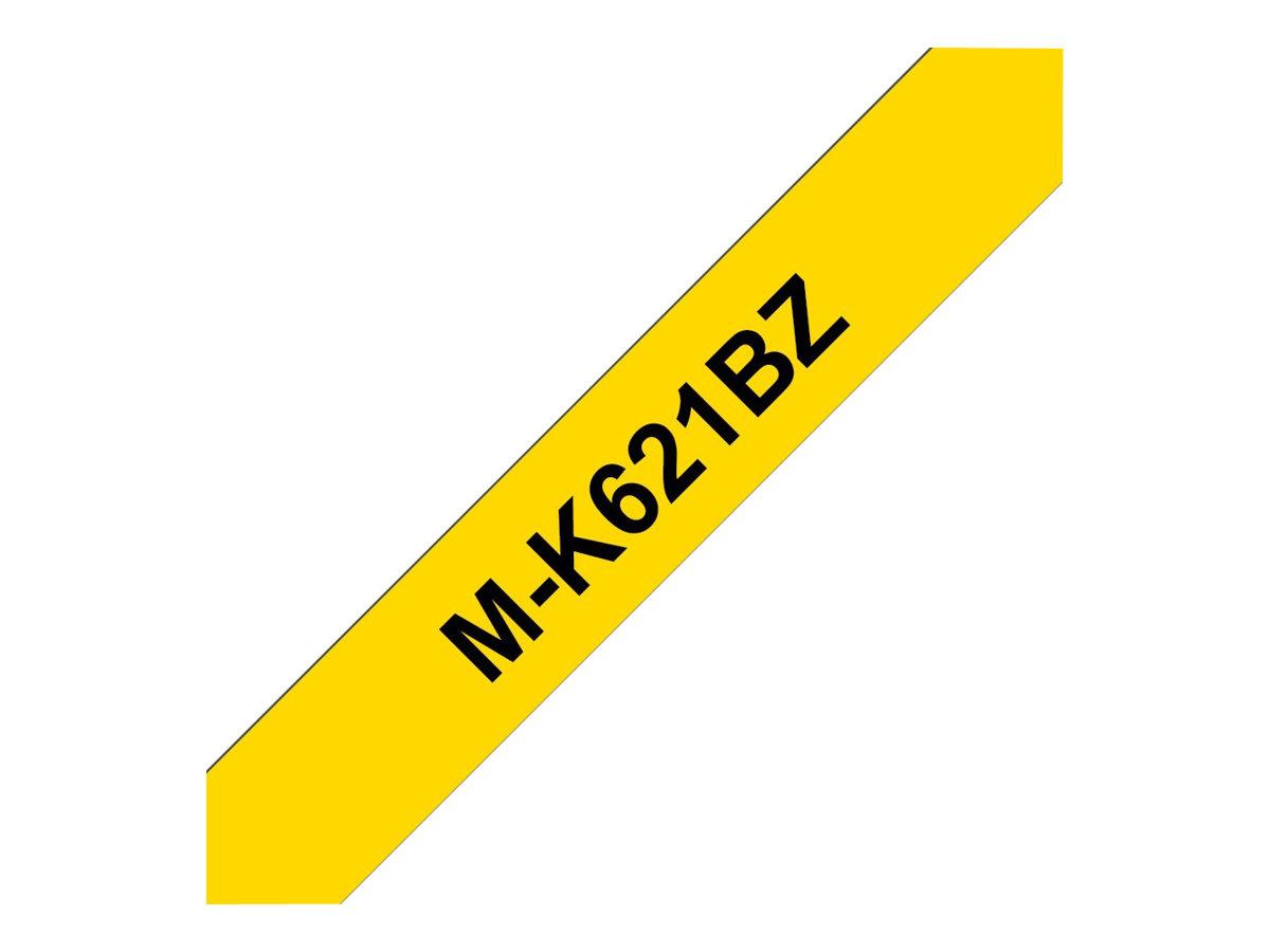 Brother MK621BZ - Schwarz auf Gelb - Rolle (0,9 cm x 8 m) 1 Rolle(n) nicht-laminiertes Schriftband - für P-Touch PT-55, PT-65, P