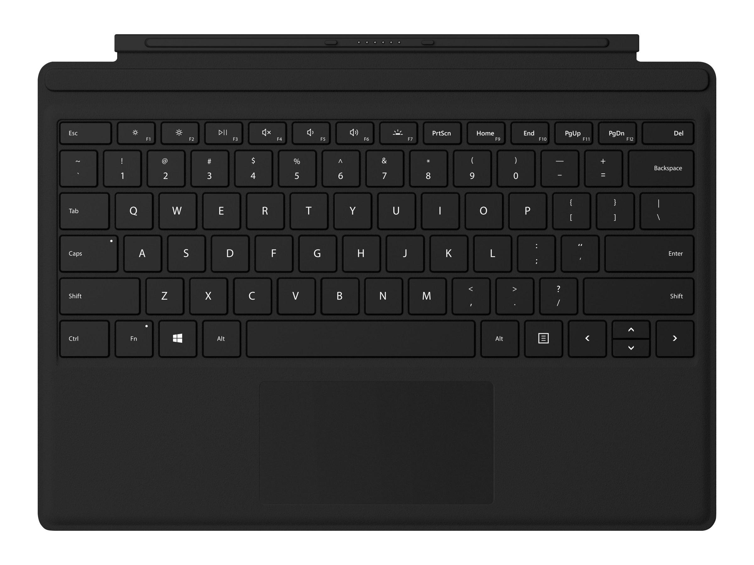 Microsoft Surface Pro Type Cover with Fingerprint ID - Tastatur - mit Trackpad, Beschleunigungsmesser - hinterleuchtet - QWERTY