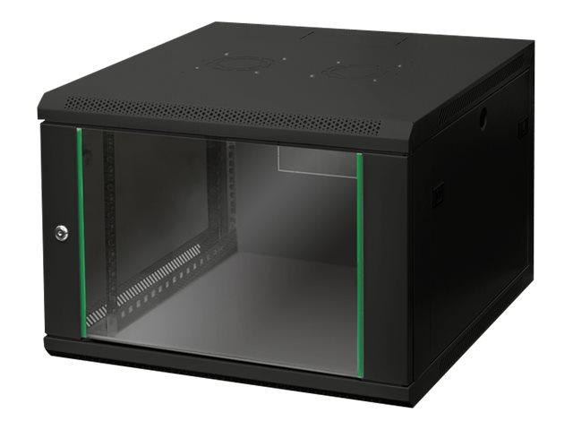 DIGITUS Dynamic Basic DN-19 07U-6/6-EC-SW - Schrank - Netzwerkschrank - geeignet für Wandmontage - RAL 9005 - 7U