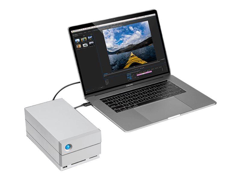 LaCie 2big Dock Thunderbolt 3 - Festplatten-Array - 36 TB - 2 Schächte (SATA-600) - HDD 18 TB x 2 - USB 3.1, Thunderbolt 3 (exte