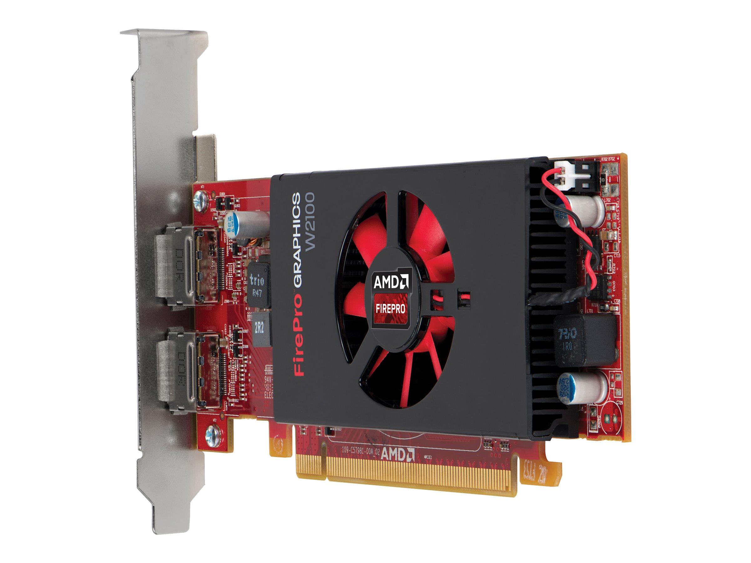 AMD FirePro W2100 - Grafikkarten - FirePro W2100 - 2 GB DDR3 - PCIe 3.0 x8 Low-Profile - 2 x DisplayPort