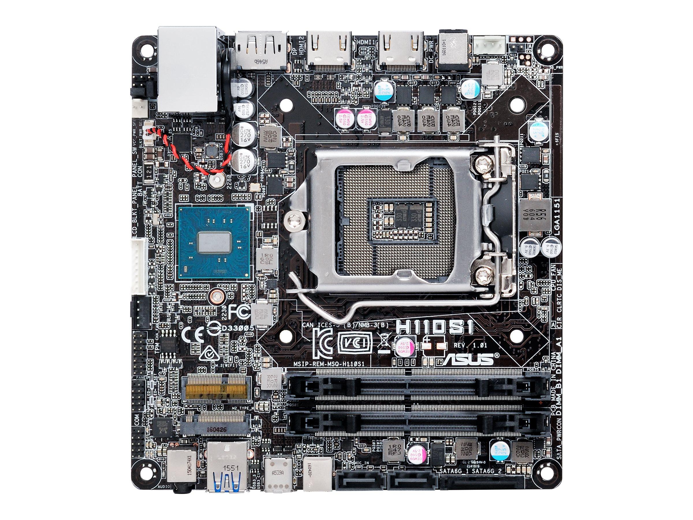 ASUS H110S1 - Motherboard - mini STX - LGA1151 Socket - H110 - USB 3.0, USB-C
