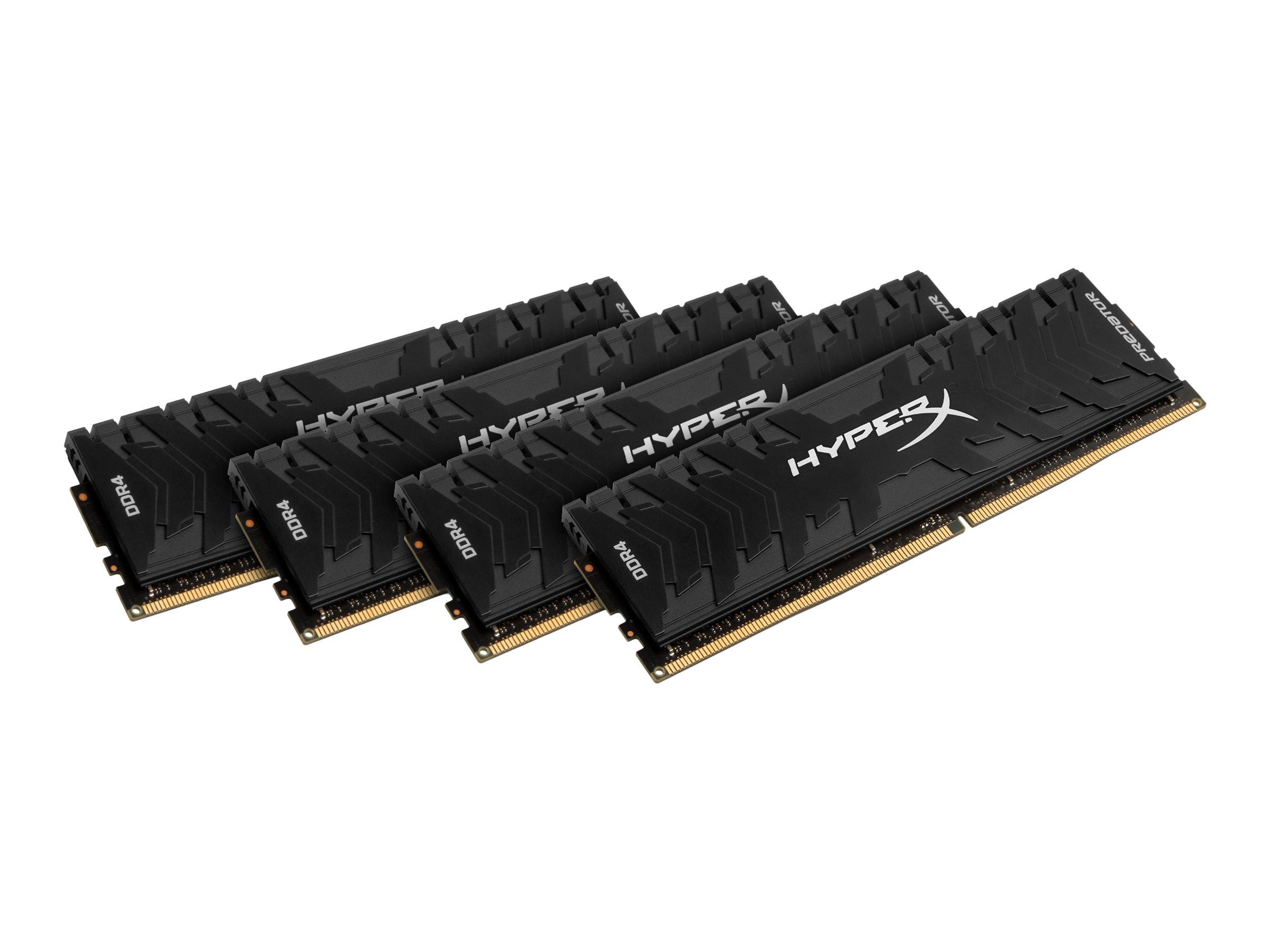 HyperX Predator - DDR4 - 32 GB: 4 x 8 GB - DIMM 288-PIN - 3333 MHz / PC4-26600 - CL16