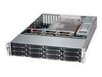 Supermicro SC826 BE2C-R920LPB - Rack - einbaufähig - 2U - verbessertes, erweitertes ATX - SATA/SAS