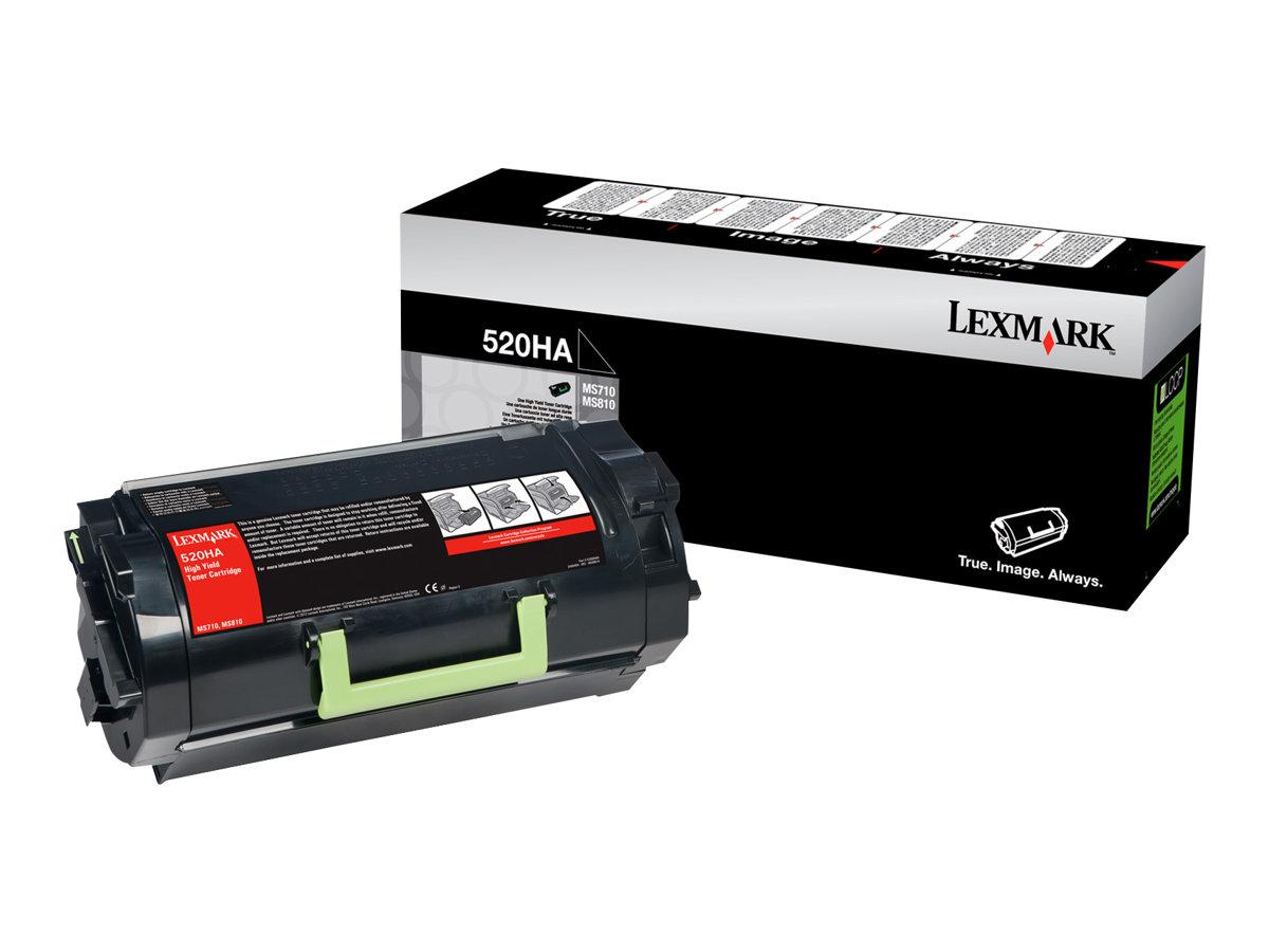 Lexmark 520HA - Hohe Ergiebigkeit - Schwarz - Original - Tonerpatrone LCCP - für Lexmark MS810de, MS810dn, MS810dtn, MS810n