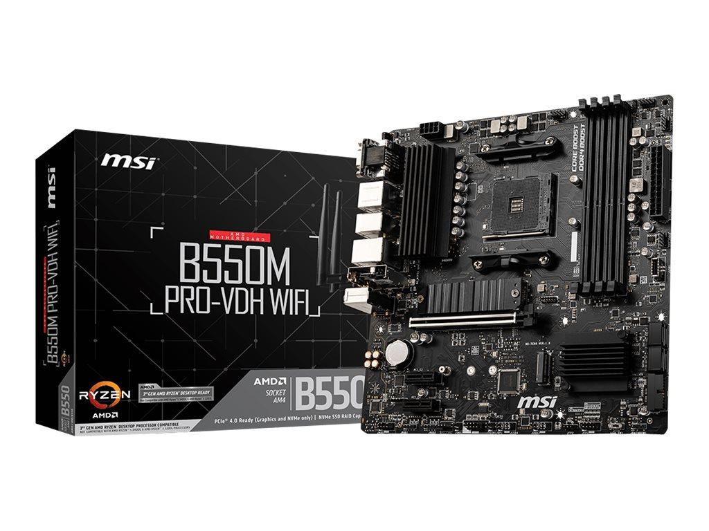 MSI B550M PRO-VDH WIFI - Motherboard - micro ATX - Socket AM4 - AMD B550 Chipsatz - USB-C Gen1, USB 3.2 Gen 1