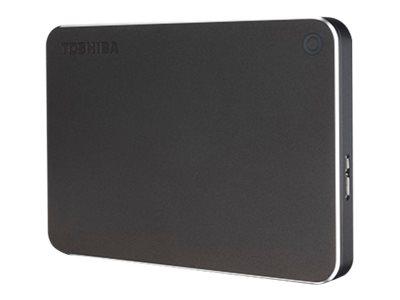 Toshiba Canvio Premium - Festplatte - 1 TB - extern (tragbar) - USB 3.0 - dunkelgrau metallisch, Diamantschliff-Design