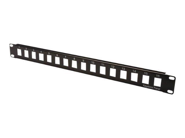 DIGITUS Professional DN-91400 - Patch Panel - Schwarz, RAL 9005 - 1U - 48.3 cm (19