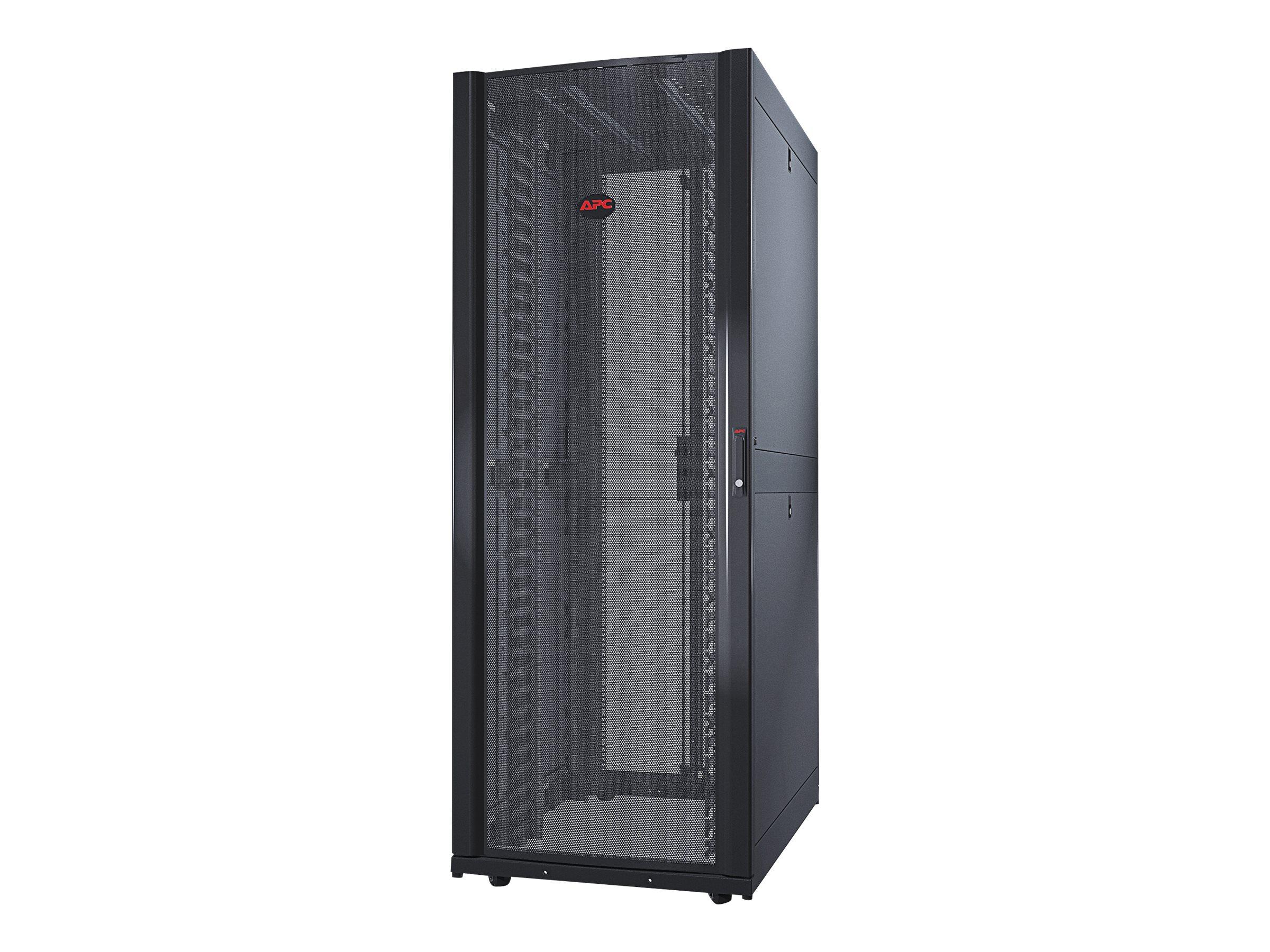 APC NetShelter SX Networking Enclosure with Sides - Schrank - Schwarz - 42HE - für P/N: SUA1000RMI2U, SUA2200RMXLI3U, SUA5000RMI
