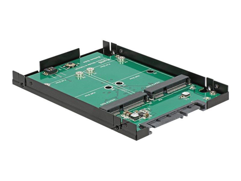 DeLOCK - Speichercontroller (RAID) - mSATA - mSATA - 600 MBps - RAID 0, 1, JBOD