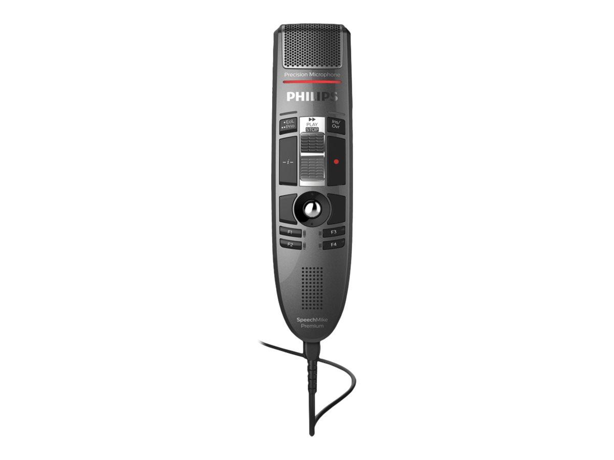 Philips SpeechMike Premium LFH3520 - LFH3500 Series - Lautsprechermikrofon - USB - dunkelgrau perlfarben metallisch