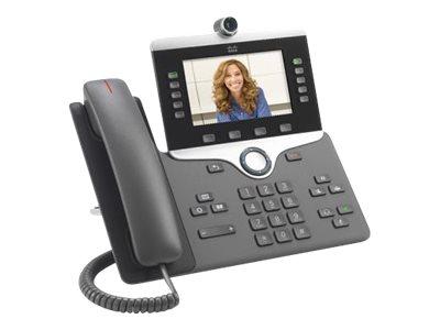 Cisco IP Phone 8845 - IP-Videotelefon - mit Digitalkamera, Bluetooth-Schnittstelle - SIP, SDP - 5 Leitungen - holzkohlefarben