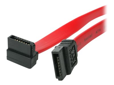 StarTech.com 15cm SATA 3 Kabel gewinkelt - S-ATA III Anschlusskabel bis 6Gb/s - Serial ATA 90° rechts abgewinkelt - Rot - SATA-K