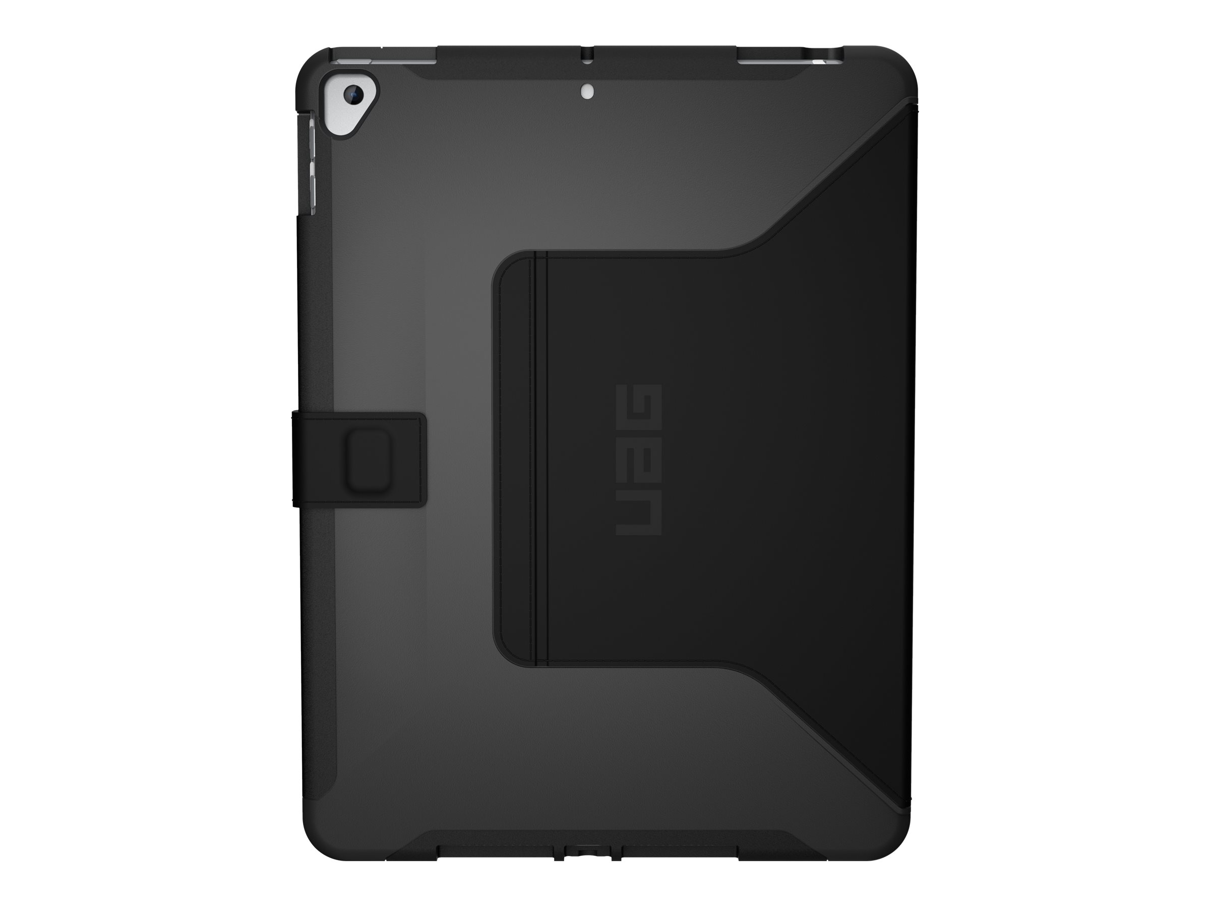 UAG Rugged Case for iPad 10.2-in (7/8 Gen, 2019/2020) - Scout w/ Folio Black - Flip-Hülle für Tablet - 10.2