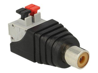 DeLOCK - Audio-Adapter - 2-polige Klemmleiste (W) bis RCA (W)