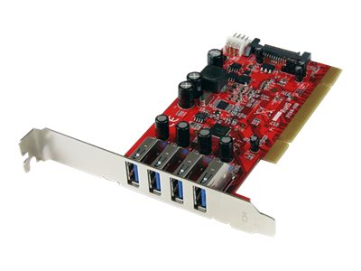 StarTech.com 4 Port USB 3.0 PCI Schnittstellenkarte - PCI SuperSpeed USB 3.0 Controller Karte - 2 x USB3.0 (Buchse) je 1x SATA/S