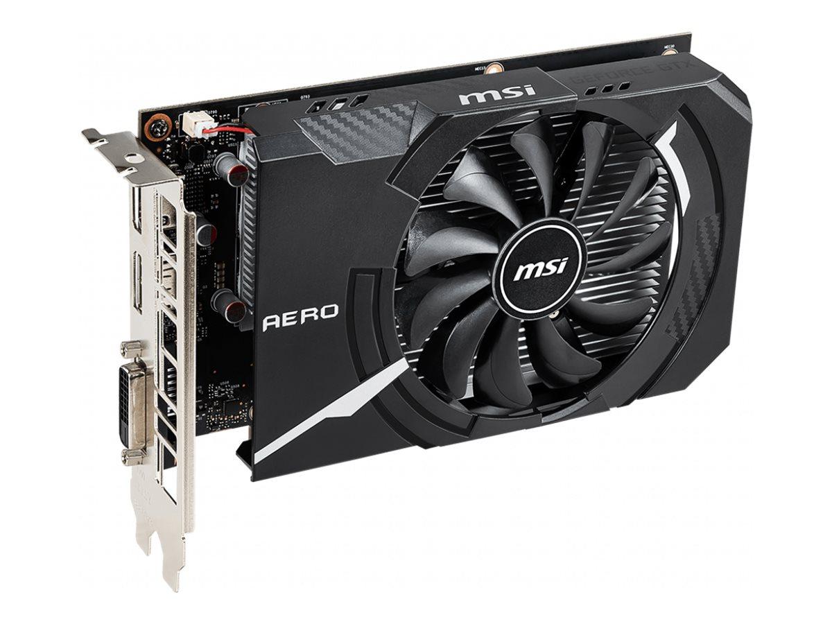 MSI GTX 1650 AERO ITX 4G OC - Grafikkarten - GF GTX 1650 - 4 GB GDDR5 - PCIe 3.0 x16 - DVI, HDMI, DisplayPort