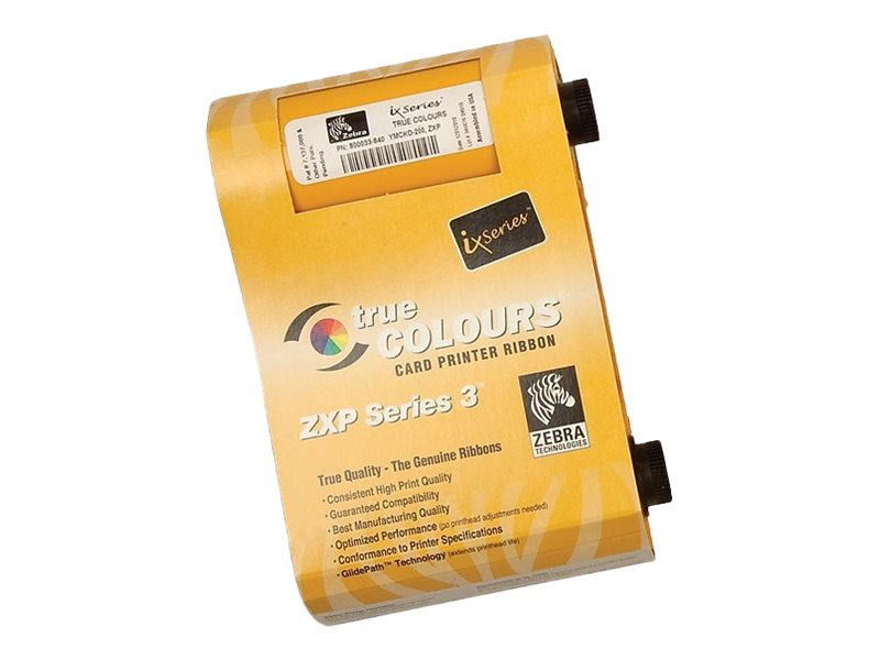 Zebra ix Series YMCKOK - 1 - Farbe (Cyan, Magenta, Yellow, Resin-Black, klarer Überzug) - Farbband (Farbe) - für ZXP Series 3, 3